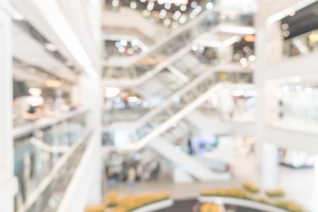 Sfocatura astratta e centro commerciale di lusso sfocato e al dettaglio