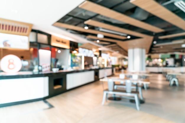 Sfocatura astratta e centro sfocato cibo corte nel centro commerciale