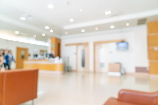 Sfocatura astratta e defocus in ospedale per lo sfondo
