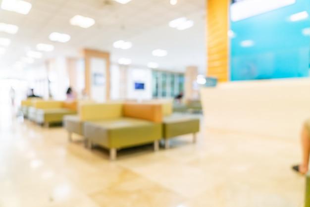Sfocatura astratta e defocus in ospedale