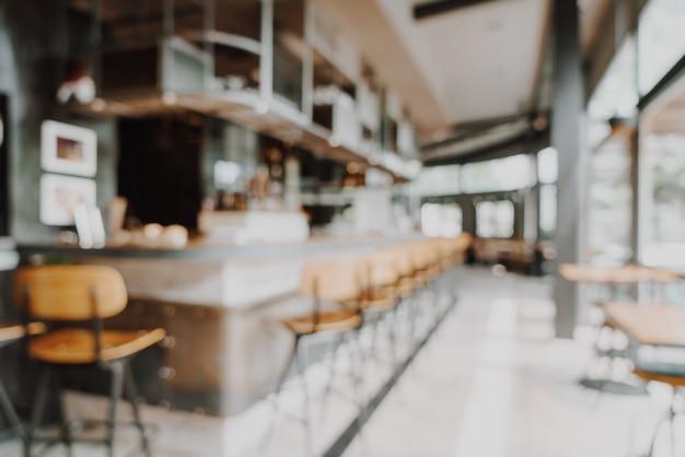 Sfocatura astratta e defocused in ristorante e caffè per lo sfondo