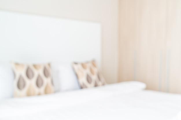 Sfocatura astratta e interni sfocati camera da letto