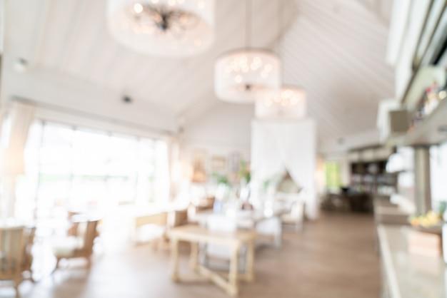 Sfocatura astratta e ristorante sfocato dell'hotel per lo sfondo