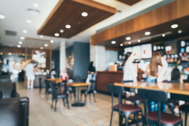 Sfocatura astratta e sfocato nel ristorante caffetteria caffetteria