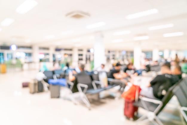 Sfocatura astratta in aeroporto per lo sfondo