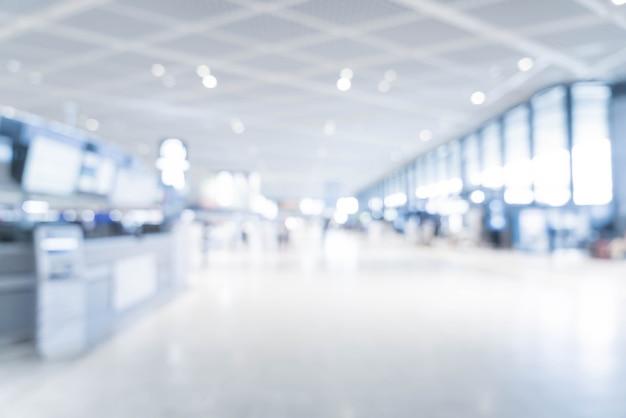 Sfocatura astratta in aeroporto