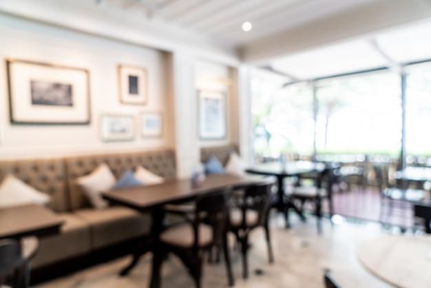 Sfocatura astratta in caffetteria e ristorante caffetteria per