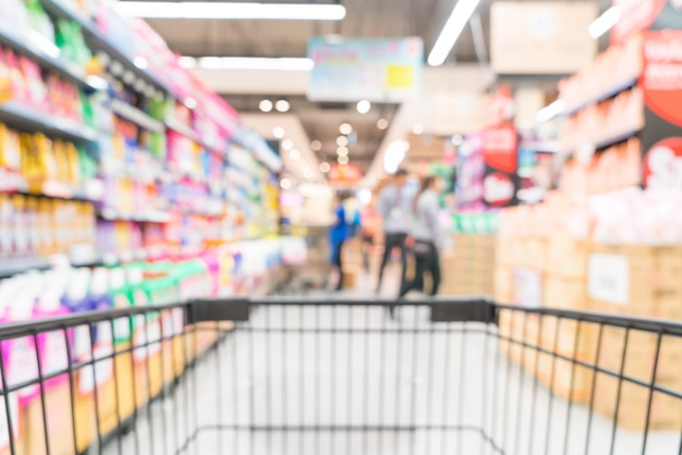 Sfocatura astratta nel supermercato