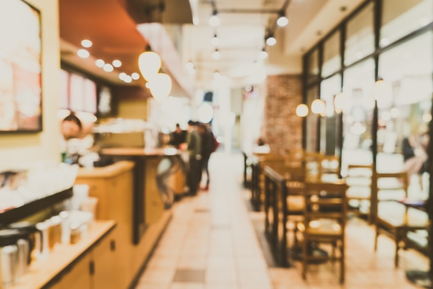 Sfocatura caffetteria interna