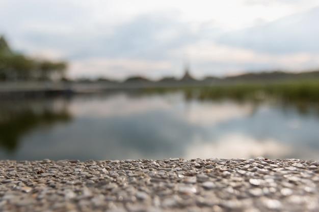 Sfocatura del pavimento con sfondo sfocato flou