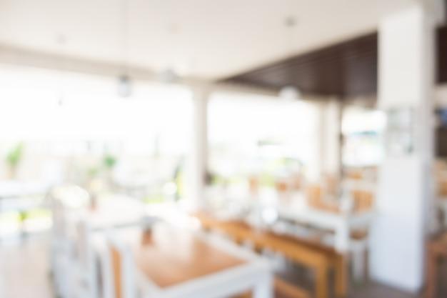 Sfocatura interni del ristorante