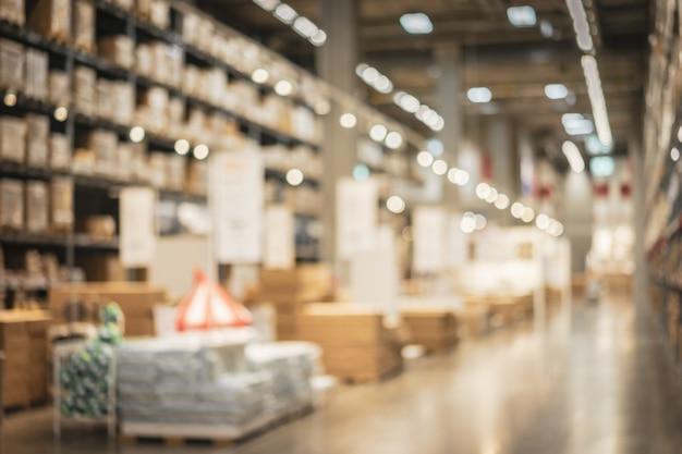 Sfocatura magazzino o magazzino come sfondo