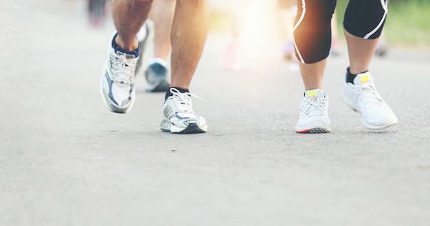 Sfocatura movimento della maratona