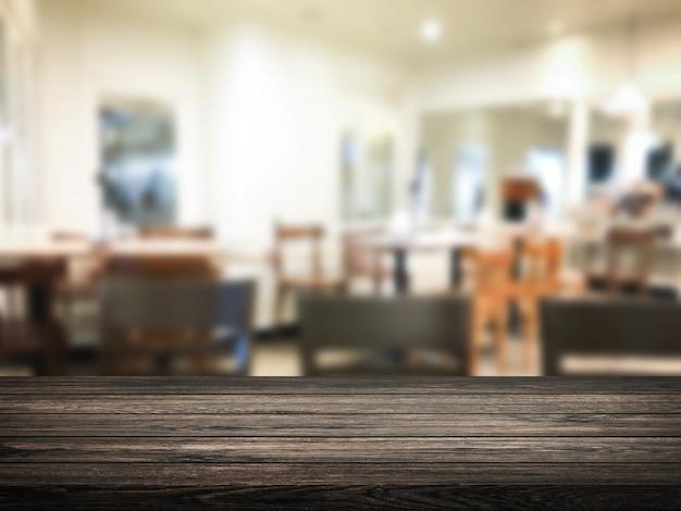 Sfocatura ristorante o dessert café interno negozio sfondo