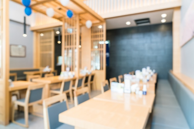 Sfocatura sfondo interno ristorante