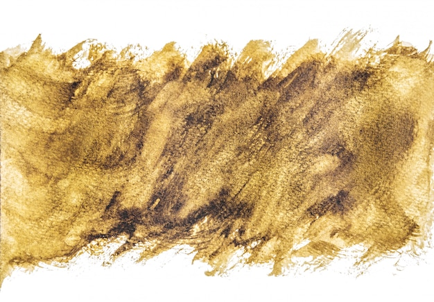 Sfondi acquerello dorato, dipinto a mano su carta