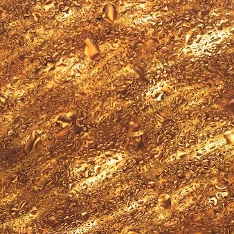 Sfondi scintillanti astratti, trama di vetro dorato con gocce d'acqua