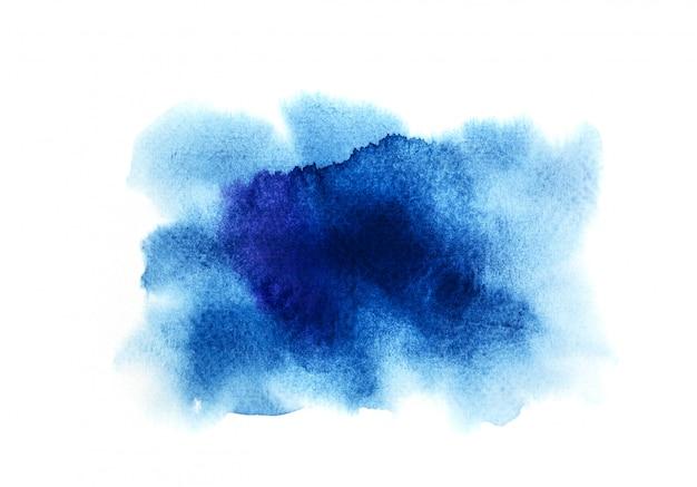 Sfondo acquerello blu. pittura a mano d'arte