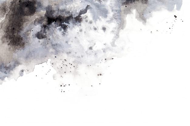 Sfondo acquerello grigio dipinto a mano a pennello