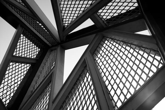 Sfondo architettonico della struttura in acciaio