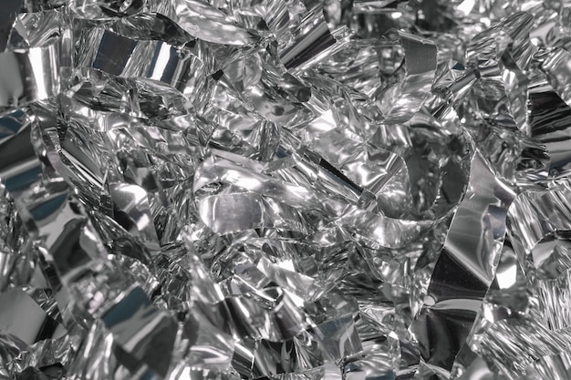 Sfondo argento metallizzato lucido per imballaggio festivo