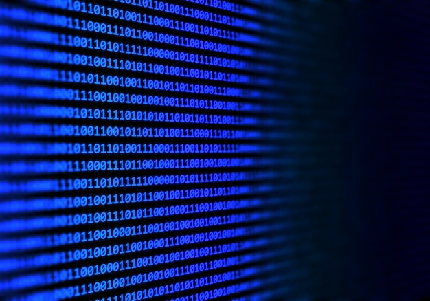 Sfondo astratto codice binario
