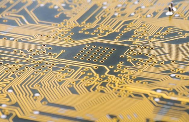 Sfondo astratto con circuito stampato