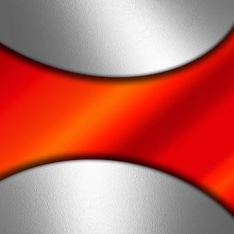 Sfondo astratto con metallo lucido e gradiente rosso
