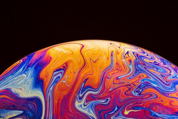 Sfondo astratto con sfera viola e giallo