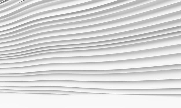 Sfondo astratto di architettura. illustrazione 3d di costruzione circolare bianca.