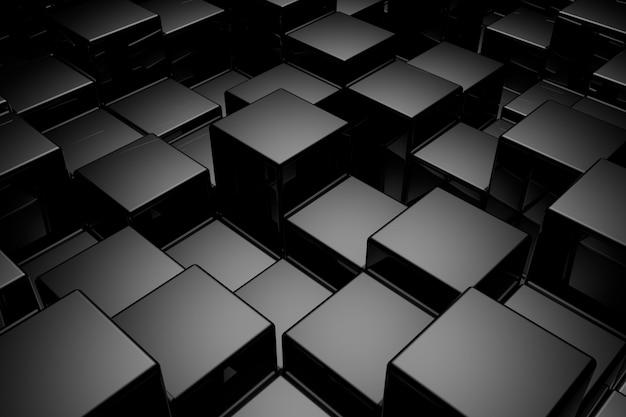 Sfondo astratto di cubi. rendering 3d.