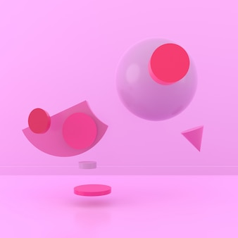 Sfondo astratto di forma di uccello. rendering 3d.