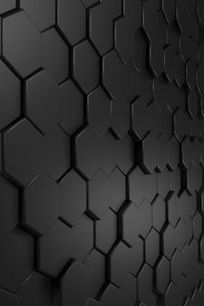 Sfondo astratto di forma esagonale. rendering 3d.