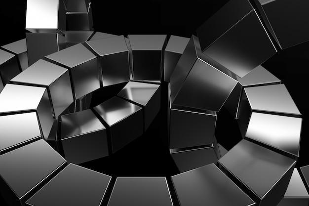 Sfondo astratto di forme metalliche