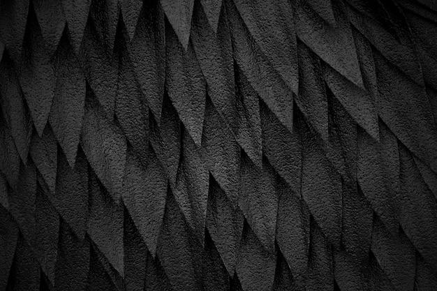 Sfondo astratto di piume nere