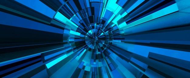 Sfondo astratto digitale blu. illustrazione 3d
