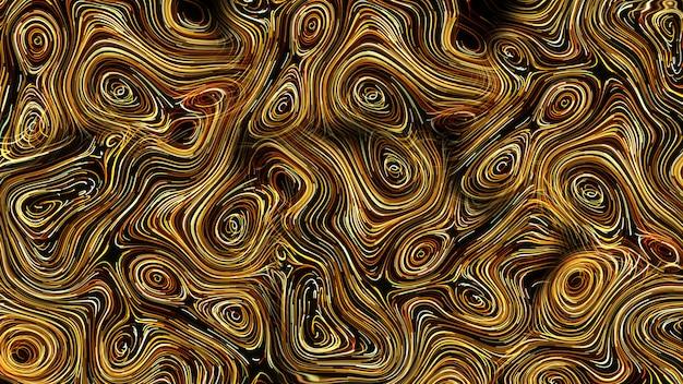 Sfondo astratto linee rotonde d'oro