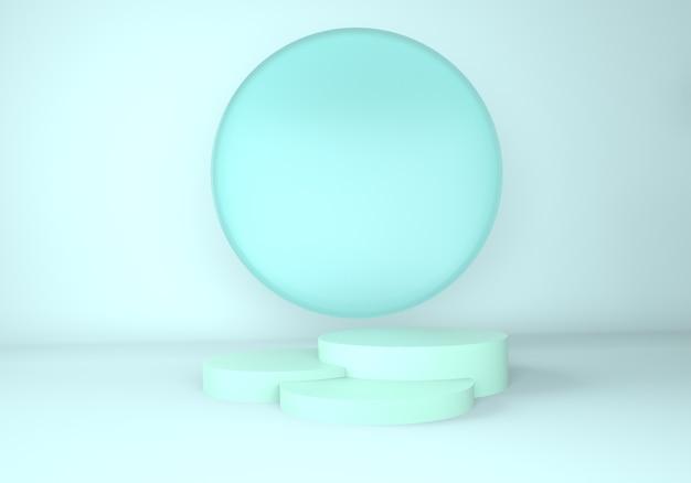 Sfondo astratto, mock up podio di forma geometria di scena per la visualizzazione del prodotto.