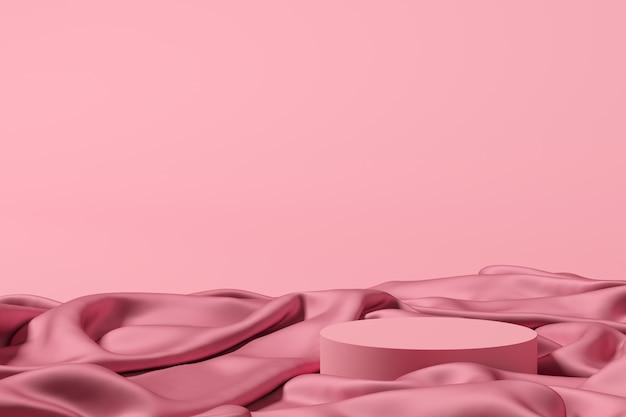 Sfondo astratto, scena per la visualizzazione del prodotto. rendering 3d