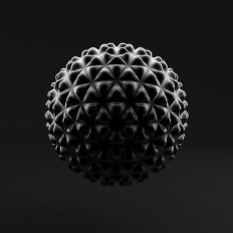 Sfondo astratto, sfera, forma. 3d illustrazione, rendering 3d.