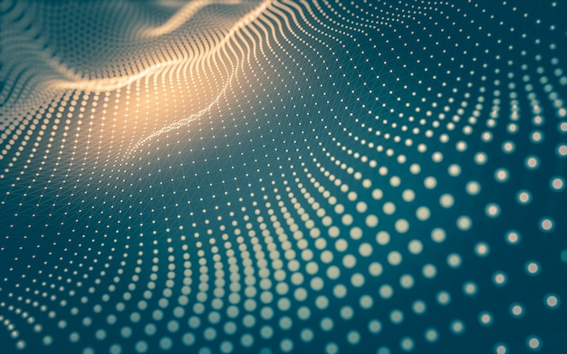 Sfondo astratto tecnologia delle molecole con forme poligonali, punti e linee di collegamento. struttura di connessione. visualizzazione dei big data.
