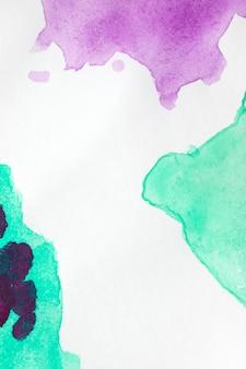 Sfondo bianco con macchie di vernice blu