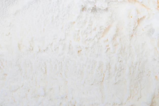 Sfondo bianco gelato alla vaniglia