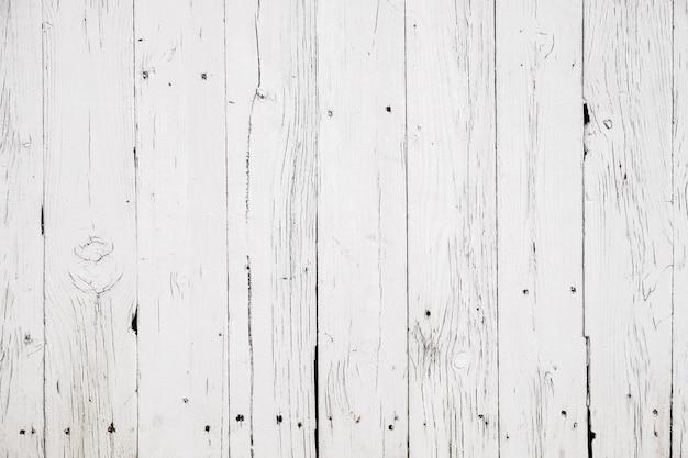Sfondo bianco in legno consistenza del vecchio pavimento