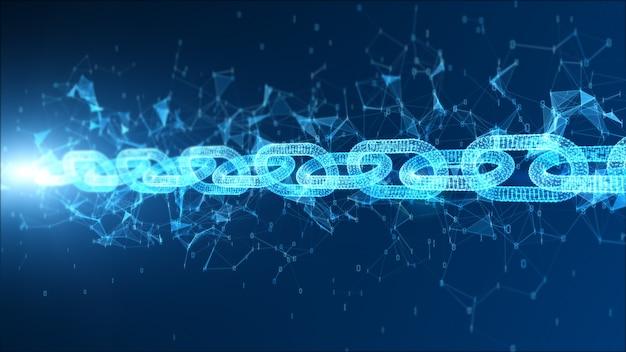 Sfondo blockchain