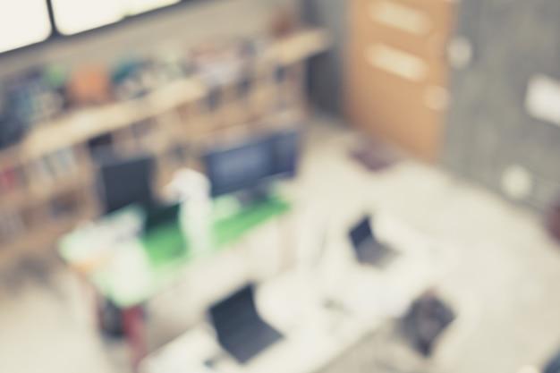 Sfondo blu dell'immagine dello spazio ufficio interno