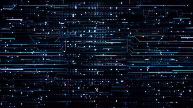 Sfondo blu hi-tech digitale