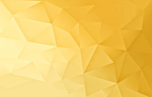 Sfondo chiaro modello poligonale oro