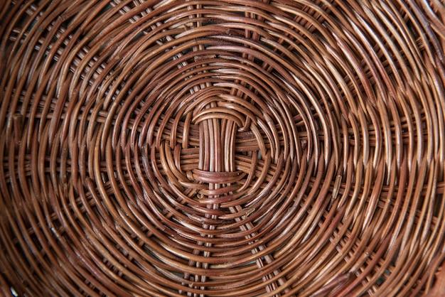 Sfondo. chiuda sulla foto di struttura di vimini. vista dall'alto