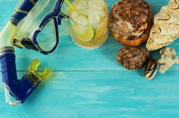 Sfondo cocktail da spiaggia